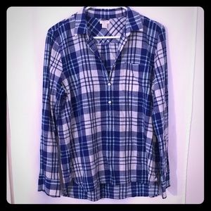 J. Crew blue plaid shirt
